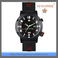 2014 New Trendy Watch Design Nylon Strap Stainless Steel Wrist Watch For Young Men