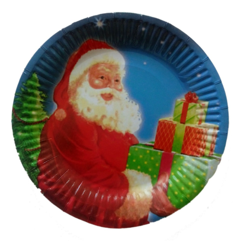 Custom 7-9 inches Christmas party Cake & Food paper plate trays