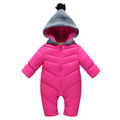 Winter Warn Down Romper For New Born Baby Thick Bodysuits For Unisex Baby Warm Clothes For