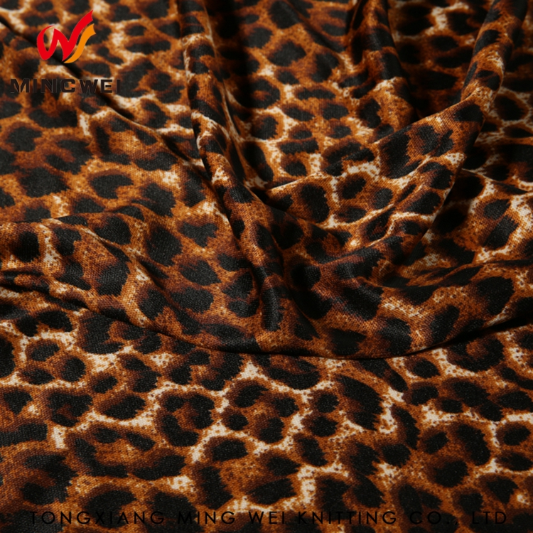Anti-Static Flame Retardant Leopard Spandex Fabric For Home Textile