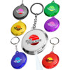 circular LED key chain light translucent colored edges light