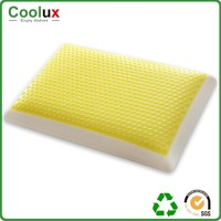 All yellow comfortable sleep memory foam pillow , bed of pillow