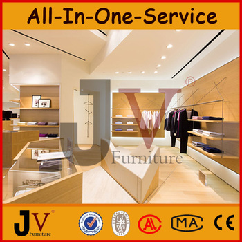 Men Clothing Showroom Design Furniture For Clothing Store MDF