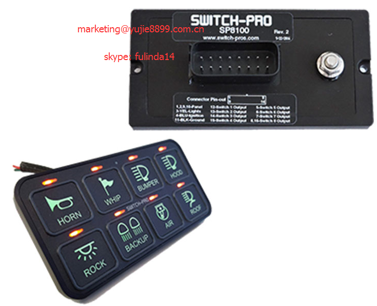 Dc12v 6 Way Touch  Circuit Control Box And Cable For Car