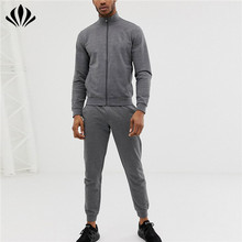 Custom plain fleece tracksuits slim fit สำหรับผู้ชาย