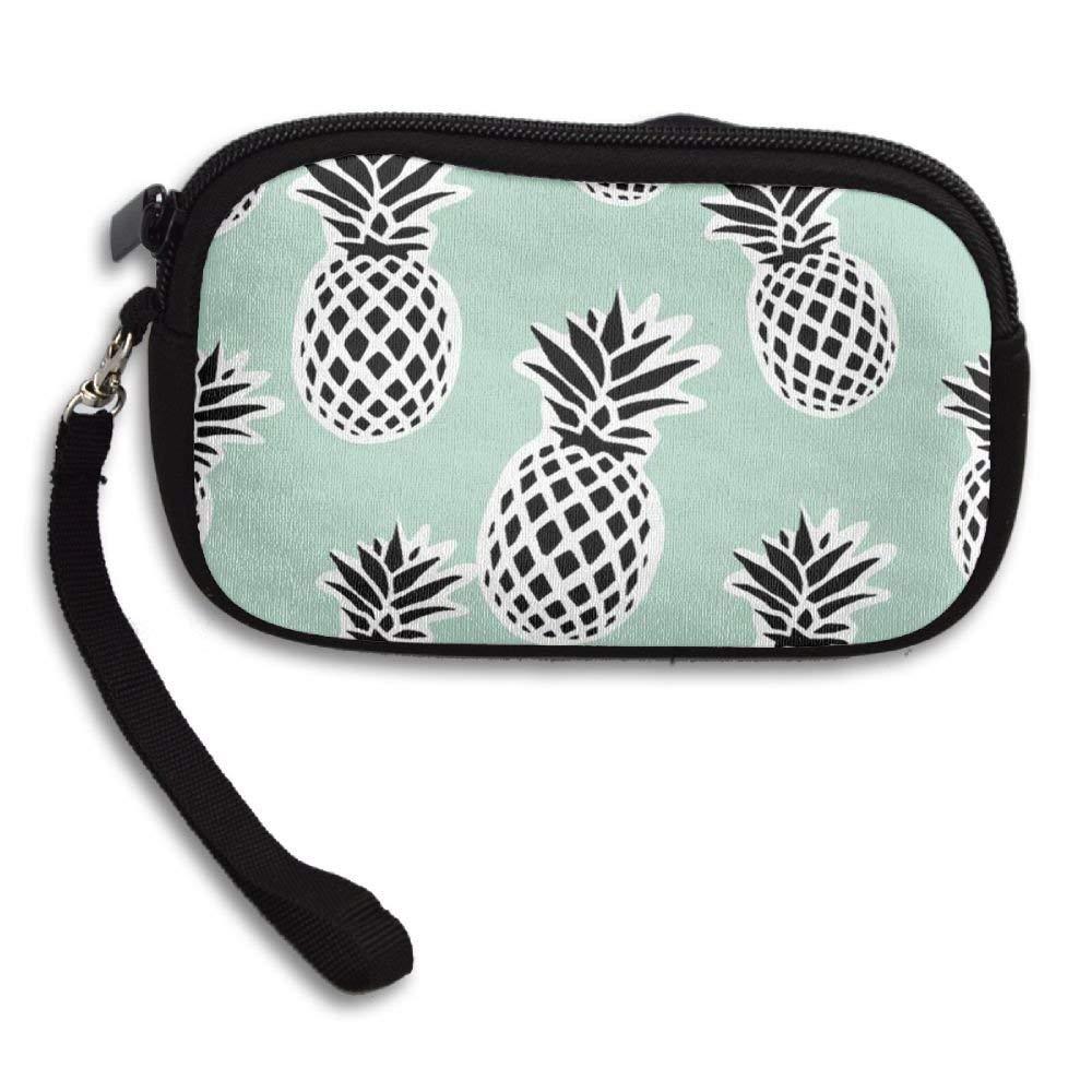 WCVRUT Unisex Clutch Wallet For Woman Ladies -Pineapples Long Purse Bag Men Gentlemen