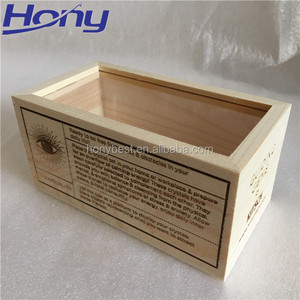 Luxury Pine Wood Chocolate Packaging Window Gift Boxes with Branding Logo
