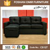 living room sofa furniture leather corner sofa cs-127