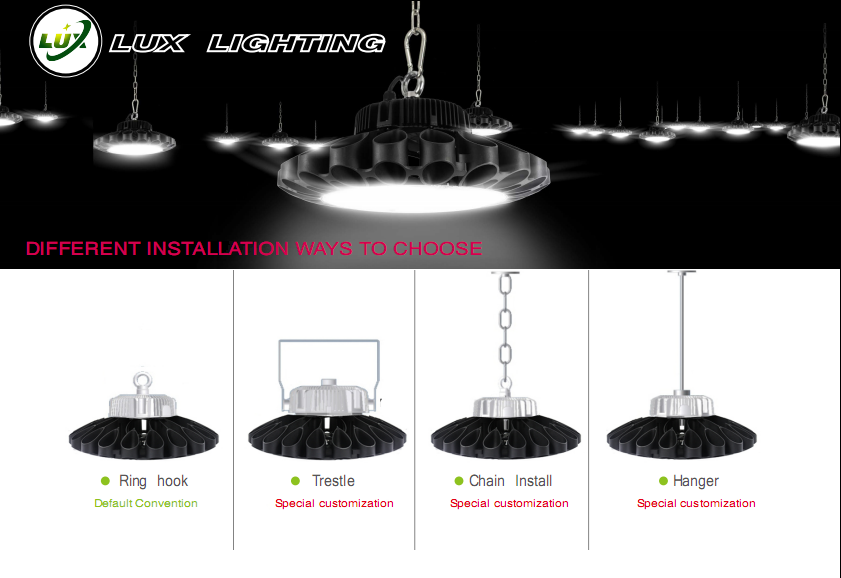 5years warranty ip65 led outdoor light ufo led high bay light