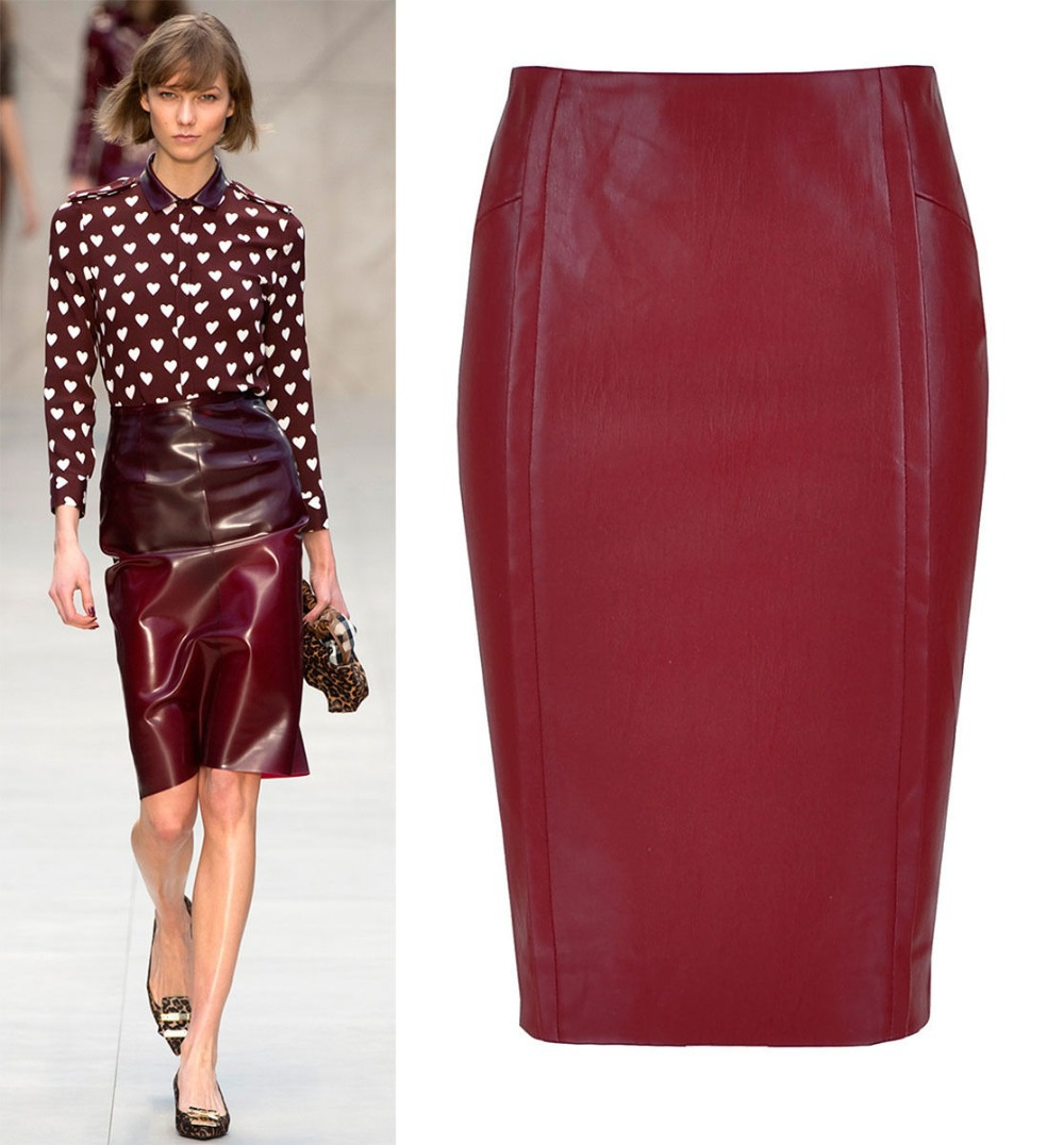5a6149d9ab Maroon Faux Leather Skirt - Redskirtz