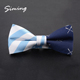 Factory direct special style mens white and blue african print bow tie clips wholesale