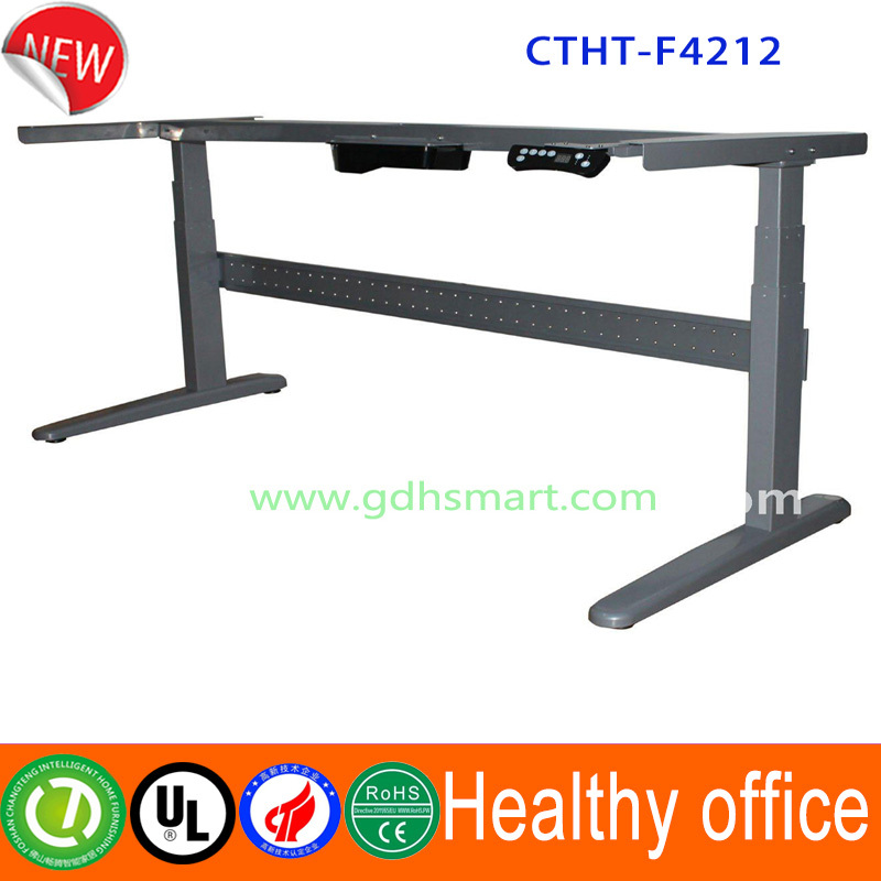 Ergonomic sit stand desk frame manual height adjustable for Table up and down but