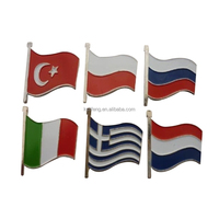 Custom national flag pins for wholesale