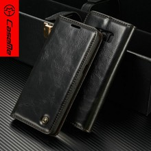 New products 2018 elegant design high quality flip geniue smooth wallet leather case for samsung galaxy note8