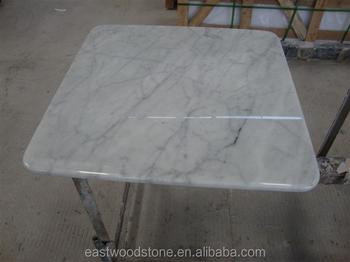 Marmo bianco tavolo quadrato da pranzo piano in marmo tavolo