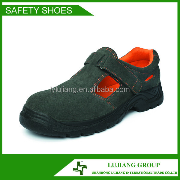 Sandals safety shoes with safety shoe upper steel toe