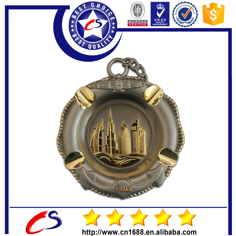 Dubai Building Metal Ashtray antique brass ashtray
