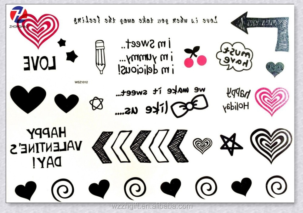 Removable Various Designs Party Kids Arm Tattoo Sticker