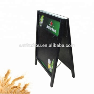 custom logo chalkboard customized wooden standing a frame blackboard