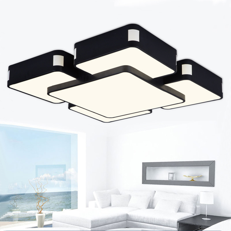 montado en superficie de techo llevada moderna luces de la sala de estar dormitorio lamparas de