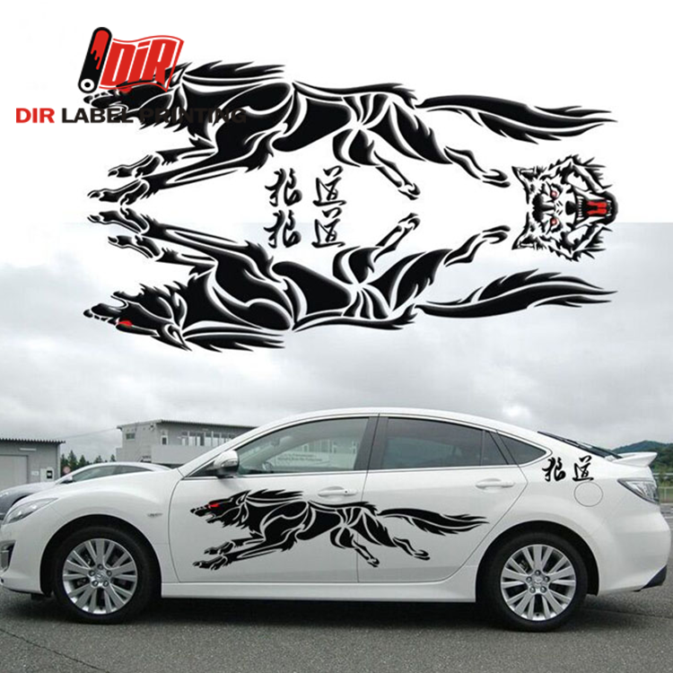 New product custom vinyl PVC motorcycle body design car printing sticker labels on china market