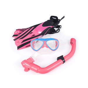 Children Snorkeling Mask Fins Set, Kids Scuba Diving Mask And Snorkel Fins Set With Silicone