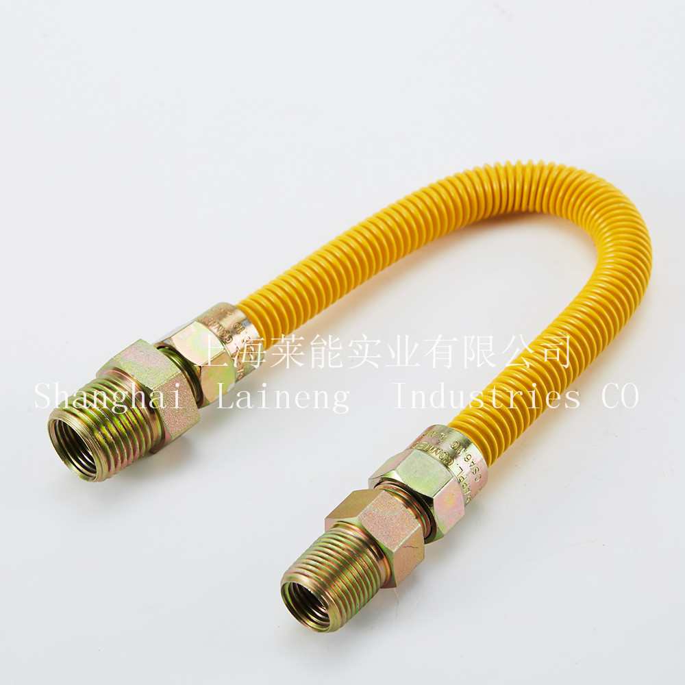 CSA epoxy coating GAS CONNECTOR SS 304 FLEXIBLE GAS HOSE natural gas pipe