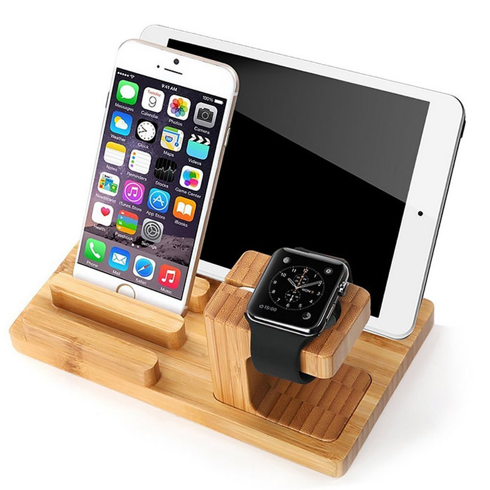 Best price bamboo charging stand for Apple watch, high quality for Apple watch stand charger