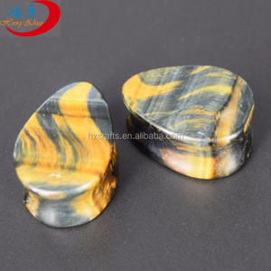 Wholesale Gemstones Yellow Tiger Eye Stones Ear Plugs Piercing