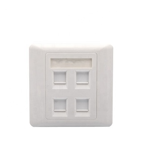 WALL OUTLET NETWORK RJ45 FACEPLATE