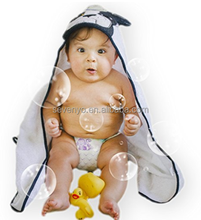 Designer Hooded Baby Bath and Swim Towel-Gentle Mr Dog,Perfect for Indoor and Outdoor Use,Such as The Beach