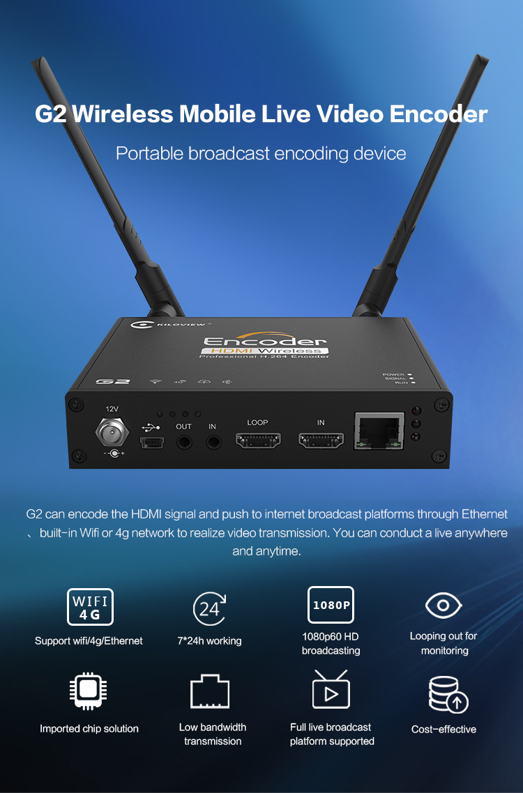 Popular HDMI H.264 Iptv Streaming Video Encoder For Live Broadcast