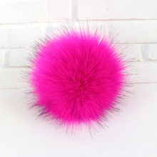 Wholesale clothing and footwear accessories Color faux fox fur pom pom ball for hats