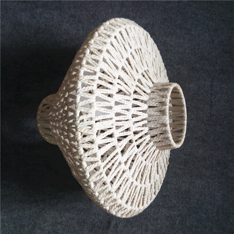 Manufacture selling lighting products fashion paper lamp shades white braid chandeliers