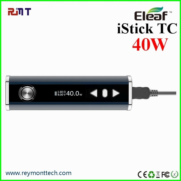Healthy e cig with 2600mah capacity eleaf istick 40w tc mod