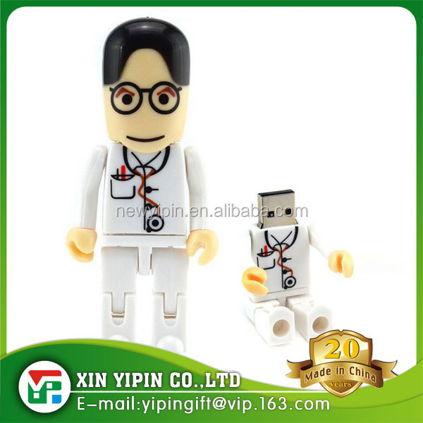 Custom doctor shape plastic 8gb usb flash drive