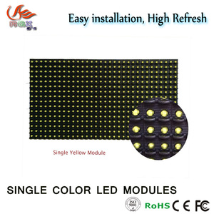 RGX P10 outdoor White Color LED module, 32X16 P10 Yellow ,Red,White, Blue, Green Waterproof Module