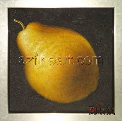 Modern realist fruits pear art paintings
