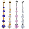 Hot Sale Tribal Set Belly Button Rings Dangle Body Jewelry For Lady CCSP-006