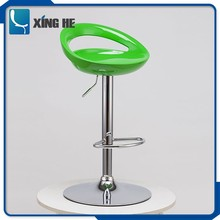 2018 Eco friendly modern adjustable swivel plastic ABS bar chair