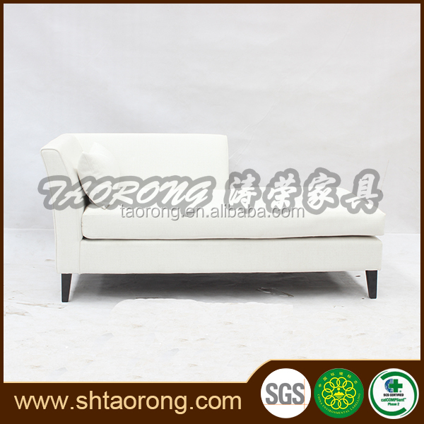 China made white fabric sofa bed hotel sleeper sofa for sale
