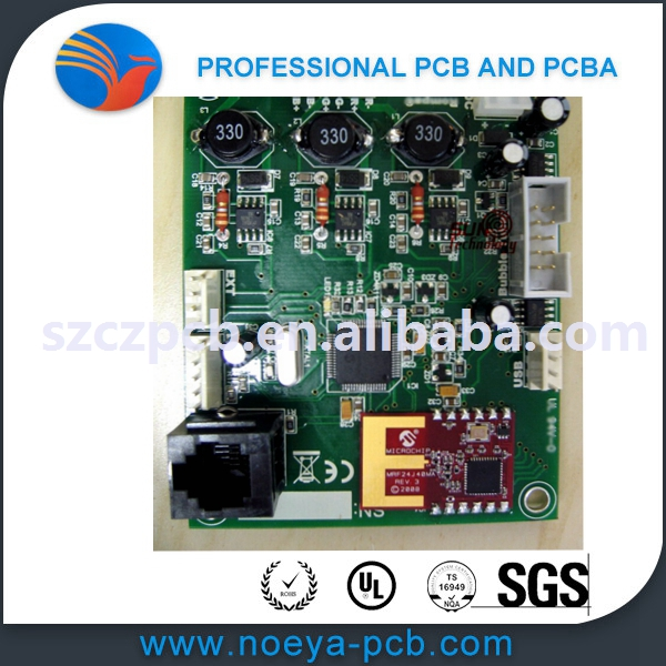 single layer FR-4 power banks circuit pcb smt assembly
