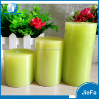 Unscented 5 X 5cm wholesale pillar candle 100% pure wax