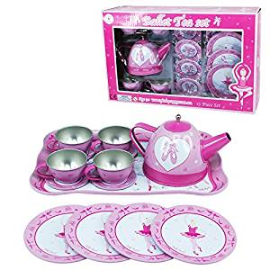 Pink Poppy Prima Ballerina Tin Tea Set
