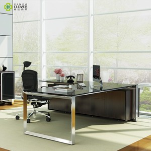 Office Design Furniture Ceo Desk Executive Table With Glass Top