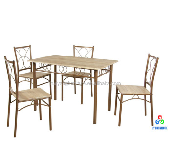 4 Seater Most Por Wooden Top Dining Table Set Wrought Iron Product On