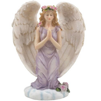 Factory Custom made best home decoration gift polyresin resin kneeling angel