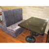 Antique style double booth sofa and restaurant table XY0911
