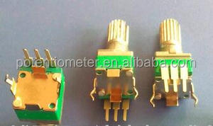 potentiometers 9mm PCb mounting vertical pins/ metal shaft knurled 9mm rotary potentiometer