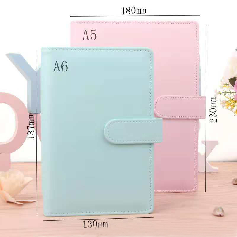 Hot sale 6 ring binder A5 A6 PU leather notebook